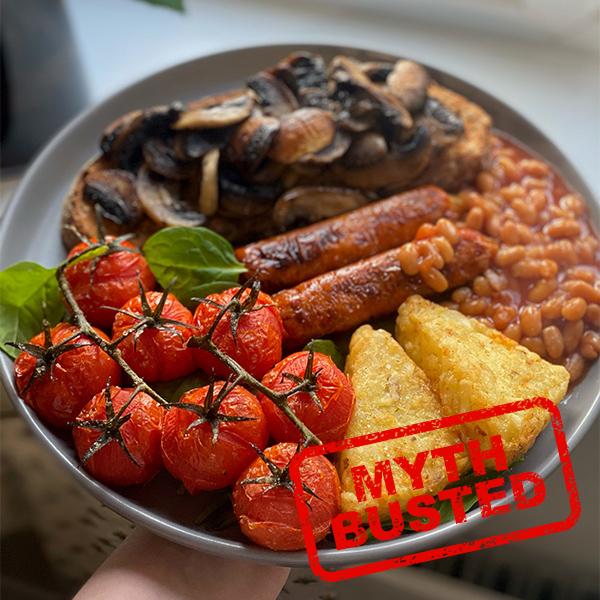 Vegan cooked breakfast-vegan myths-slimming world blog