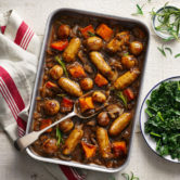 sausage tray bake-try our tray bakes-slimming world blog