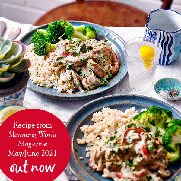 Beef stroganoff with rice and broccoli-Slimming World beef stroganoff-slimming world blog